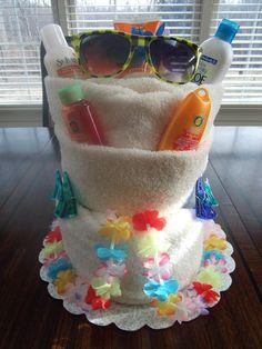 Honeymoon or Vacation Towel Cake. $45.00, via Etsy.