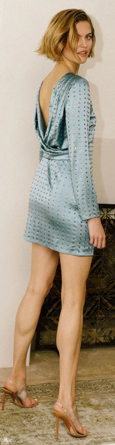 Duck Egg Blue, Fashion Show, Fashion Trends, Short Dresses, Cold Shoulder Dress, Women Wear, Vogue, Turquoise, Fall