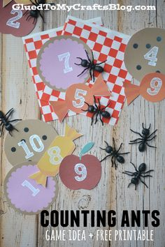 Counting Ants Game - Free Printable