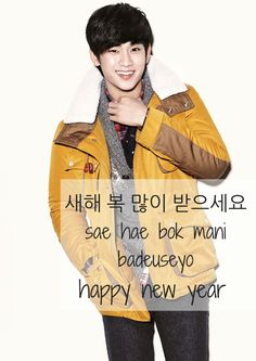 Vingle - Happy New Year! (Featuring Soo Hyun) - K-Idol Flashcards! Learn Korean With K-Entertainment!