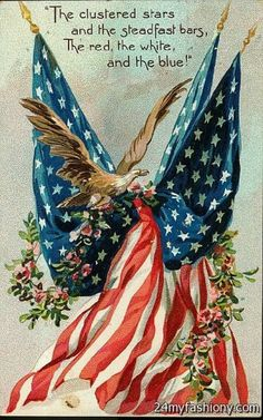 Image result for vintage flag day