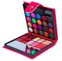 Girly 32-Color Eyeshadow Palette, Leather Case