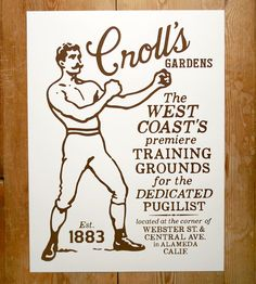 Croll's Gardens Boxing Art Print by Honour Brand on Scoutmob