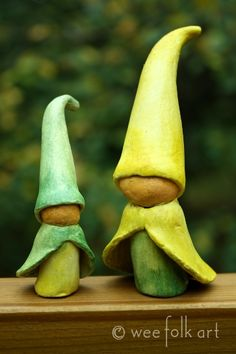 Paperclay Gnomes, Of Course!   Wee Folk Art