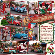 2004 Hollywood Holly-Day Parade - MouseScrappers - Disney Scrapbooking Gallery
