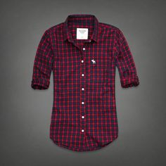 New Abercrombie Fitch by Hollister Womens Plaid Shirt Size Small Blouse Top | eBay