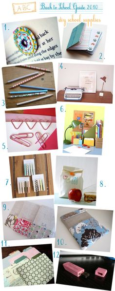 Ideas for decorating school supplies. My favorite is the pink eraser jump drive!