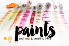 What's the difference Wednesday | Paints Discover which paints work best in your journaling bible!