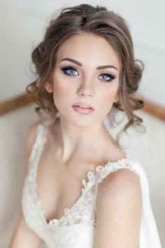 Maquiagem - pele e olhos claros cabelo castanho