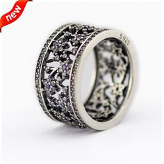 2016 Spring Colle...  Click To Order  http://jere-miah-jewelry.myshopify.com/products/2016-spring-collection-forget-me-not-silver-rings-with-clear-cz-100-925-sterling-silver-jewelry-diy-wholesale-08r084?utm_campaign=social_autopilot&utm_source=pin&utm_medium=pin We Ship Worldwide!