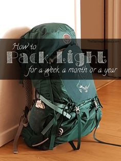 How to pack light for a week, a month or a year - The Solivagant Soul