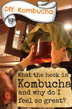 DIY Kombucha.  Delicious, healthy, probiotic, immunity booster that you can enjoy at home.