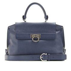 Salvatore Ferragamo Sofia Leather Shoulder Bag ($1,678) ❤ liked on Polyvore