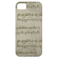 Gold Music iPhone 5 Cases