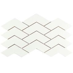 Merola Tile Boomerang Glossy White Ceramic Wall Tile offers a magnificent and chic expression to your home. Best Floor Tiles, Unique Tile, Ceramic Mosaic Tile, Cement Tiles, Wall Patterns, Geometric Patterns, Contemporary Decor, White Ceramics, Flooring