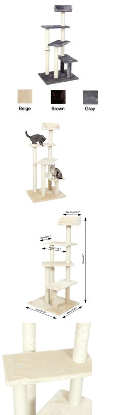 Animals Cats: New 50 Cat Tree Furniture House Post Condo Pet Play Scratcher Toy Kitten Tower -> BUY IT NOW ONLY: $50.99 on eBay!