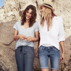 The pair wear island inspired fashion with a casual take