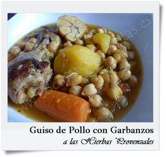 GUISO DE POLLO CON GARBANZOS A LAS HIERBAS PROVENZALES | Cocinar Con Recetas