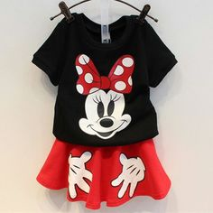 Minnie Red & Black Summer Set