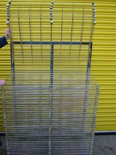 Industrial-Metal-Print-Art-Painting-Craft-Drying-Rack-50-Flip-Shelves-On-Wheels