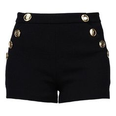 Boutique Moschino Shorts ($135) ❤ liked on Polyvore featuring shorts, bottoms, pants, black, mid rise shorts and zipper shorts