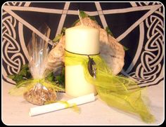 Goddess Healing Pillar Candle Earth Herbs by PaganMagicalCrafts