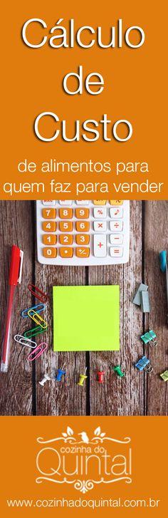 Venha aprender como calcular o custo de qualquer alimento para vender =)
