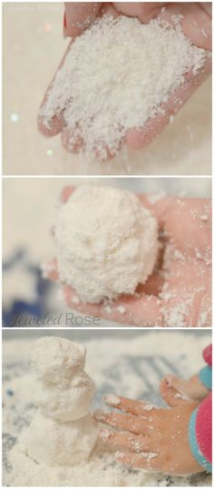 Silk Snow- amazingly silky,icy cold, ONE INGREDIENT snow recipe for Winter play