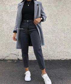outfit ideas for winter \ outfit ideas . outfit ideas for women . outfit ideas for school . outfit ideas for winter . outfit ideas for women over 40 . Trendy Fall Outfits, Casual Winter Outfits, Winter Fashion Outfits, Look Fashion, Stylish Outfits, Fall Fashion, Winter Outfits Tumblr, Jeans Outfit Winter, Stylish Coat