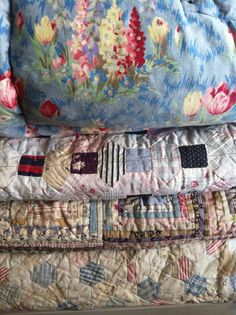 Quilted splendour 1930s/40s eiderdown with 19th and early 20th Century quilts