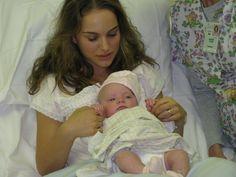 Natalie Portman with her baby