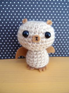 Crochet Amigurumi Bat (Brown)