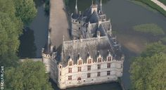 CHÂTEAU OF AZAY-LE-Rideau:  The Château of Azay-le-Rideau is situated in the Centre Val de Loire region. It was built on an island on the ...