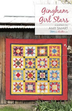 Christmas quilts made by Amy Smart including patterns and tutorials such as the Holiday Patchwork Forest, modern improv tree quilt block. Patch Quilt, Flag Quilt, Star Quilt Blocks, Star Quilt Patterns, Star Quilts, Pdf Patterns, Baby Quilt Tutorials, Quilting Tutorials, Free Tutorials