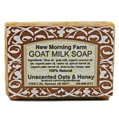 "Use this handcrafted, deep conditioning soap for your body and face. Buy ""Oats and Honey"" from New Morning Farm Goat Milk Soap on BuyNebraska.com! #grownebraska #buynebraska"