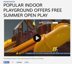 Popular Indoor Playground Offers Free Summer Open Play