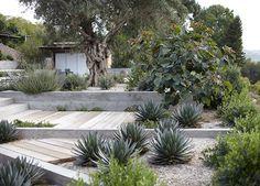 garten am hang Spanish Landscaping, Modern Landscaping, Backyard Landscaping, House Landscape, Garden Landscape Design, Terraced Patio Ideas, Terraced House, Mediterranean Garden Design, Hillside Garden