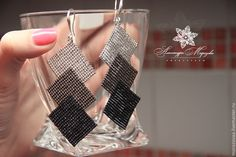 Оригинальные серьги Геометрическая игра - серебряный,серьги ручной работы