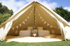 wedding bridal bell tent interior