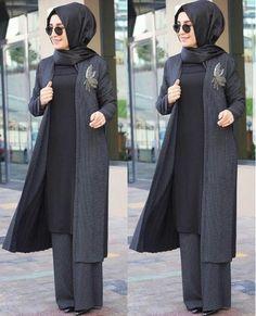 ❤❤yine mi kalite yine mi… - pionero de la cosmética, alimentación, moda y confección Islamic Fashion, Muslim Fashion, Modest Fashion, Fashion Dresses, Abaya Mode, Mode Hijab, Casual Hijab Outfit, Hijab Chic, Muslim Dress