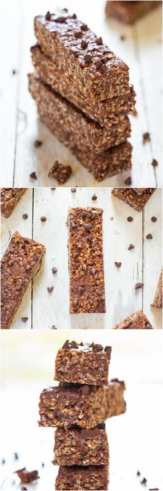 No-Bake+Double+Chocolate+Peanut+Butter+Granola+Bars+(vegan,+GF)+-+Make+healthy+bars+that+taste+like+candy+bars+in+10+minutes!                                                                                                                                                                                 More
