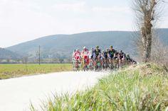 Strade Bianche Gallery – By Paolo Cibra | Ride Media - The peloton on the white road (sector two near Rosia). Photo: Paolo Cibra