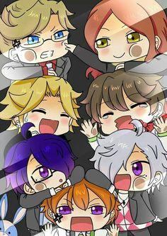 Ukyo, Hikaru, Kaname, Masaomi, Azusa, Tsubaki and Natsume - chibi ^^