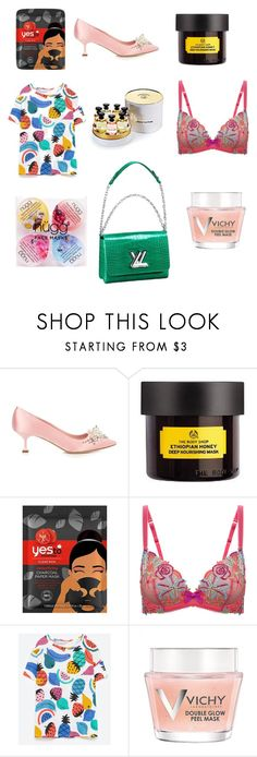 """Untitled #798"" by alaa88 ❤ liked on Polyvore featuring Miu Miu, Yes to Tomatoes, L'Agent By Agent Provocateur, Vichy, nügg and Louis Vuitton"