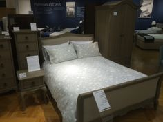 Nice bed from John Lewis, with padded head and foot board