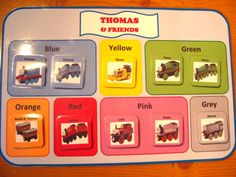 Thomas Tank Engine Colors PDF - Fun Colorful Printable File Folder Game for Teaching Colors. via Etsy. Teaching Colors, Teaching Math, Maths, Teaching Ideas, Learning Tools, Early Learning, File Folder Games, File Folders, Autism Information