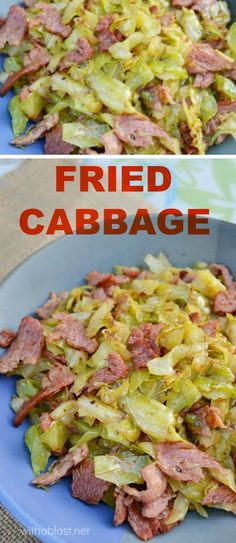 Looking for a quick and easy side dish ? Try this Fried Cabbage - most delicious !
