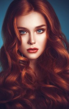 Pink-Red with Yellow Highlights - 20 Cool Styles with Bright Red Hair Color (Updated for - The Trending Hairstyle Beautiful Redhead, Beautiful Eyes, Beautiful Women, Beautiful Artwork, Beautiful Pictures, Photo Retouching, How To Draw Hair, Ginger Hair, Woman Face