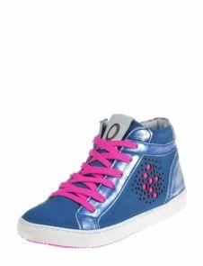 eca88100d8f Keq meiden sneaker met roze veters van Keq - Kinderschoenen - Kinderschoenen  meiden - Sneakers hoog