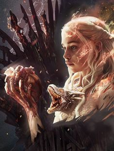 Game of Thrones - Daenerys Targaryen Game Of Thrones Wallpaper, Game Of Thrones Artwork, Game Of Thrones Poster, Game Of Thrones Facts, Game Of Thrones Funny, Dessin Game Of Thrones, Arte Game Of Thrones, Drogon Game Of Thrones, Game Of Thrones Dragons